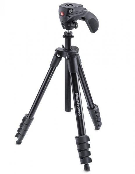 Manfrotto Compact Action trepied foto-video produs expus 1