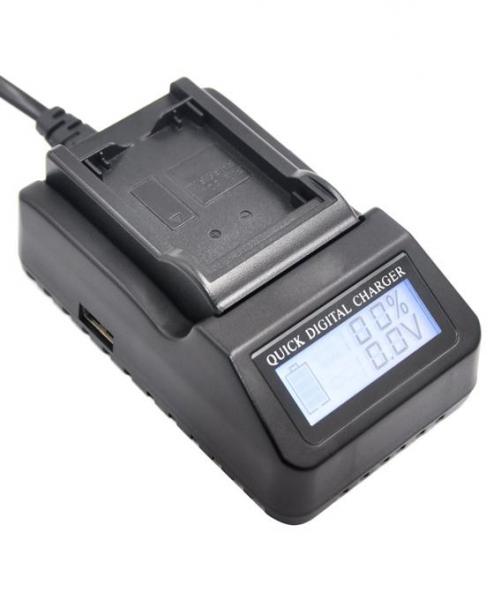 Digital Power EN-EL15 incarcator rapid cu LCD pentru Nikon 0