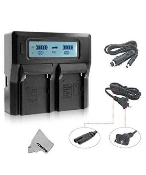 Digital Power Incarcator dual LCD pentru acumulator Sony NP-FM50 1