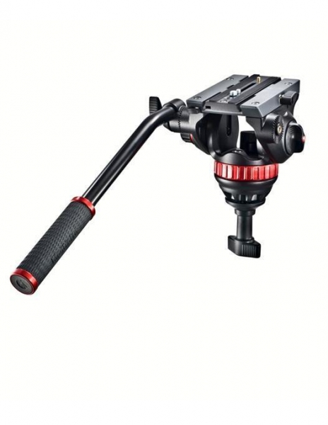 Manfrotto MVH502A,546BK Kit trepied video fluid cu spreader la mijloc 2