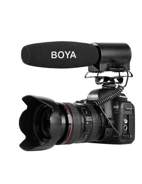 Boya BY-DMR7 microfon shotgun cu flash recorder integrat [1]