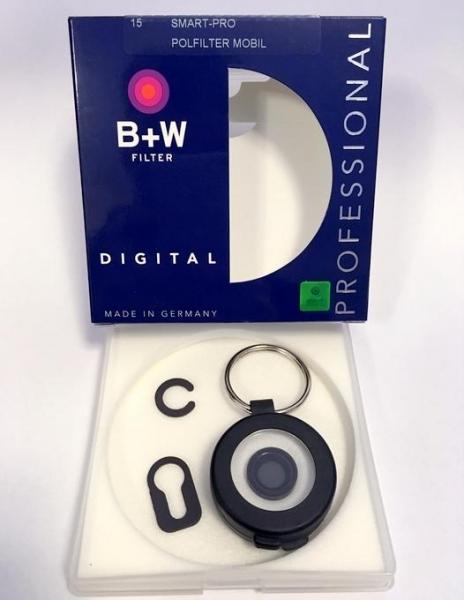 B+W Smart-Pro  filtru polarizare iPhone 2