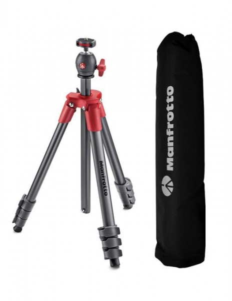 Manfrotto Kit trepied Compact Light Red (gri cu rosu) 0