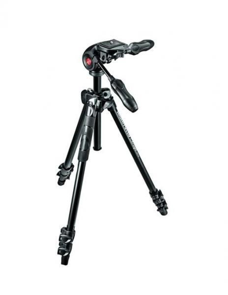 Manfrotto MK290LTA3-3W Kit Trepied 290 LIGHT cu cap 3Way cu manere culisabile 0