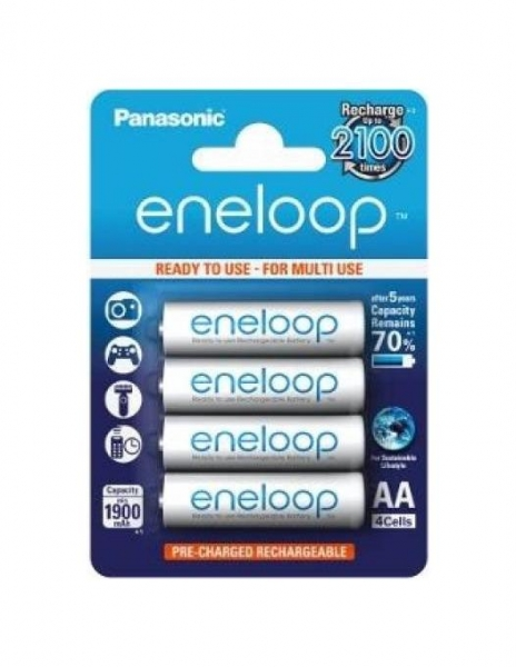 Panasonic Acumulatori Eneloop 4xAA 1900mAh