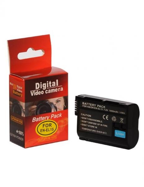 Digital Power EN-EL15 1900 mAh acumulator pentru Nikon D7000 D7100 D610 D500 D7200 V1 D750 D810 D800E