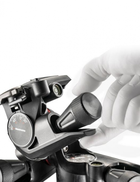 Manfrotto XPRO Cap trepied foto micrometric cu roti dintate 4