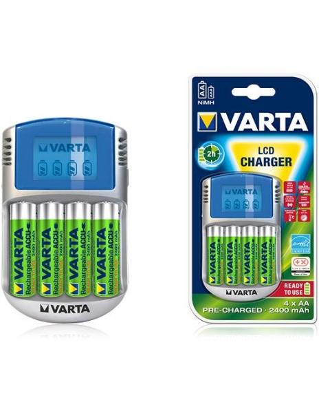 Incarcator Varta LCD 57070 + 4 acumulatori Varta 2600mah [0]