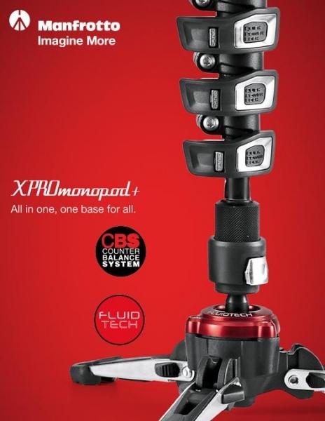 Manfrotto MVMXPROA4 Monopied video fluid 3