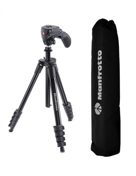 Manfrotto Compact Action trepied foto-video pentru camere video si web 0