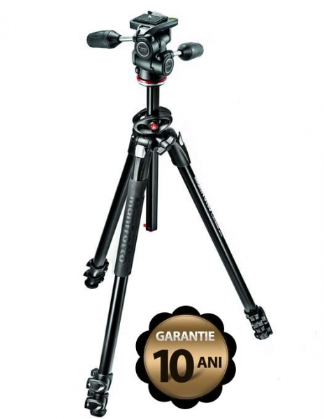 Manfrotto MK290DUA3-3W kit trepied foto cu cap 3Way 4