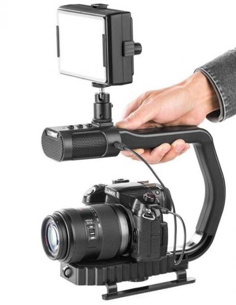 MicRig Stereo maner cu microfon pentru camere video 2
