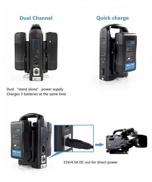 Digital Power BP-190WS Incarcator V-Mount compatibil Sony 2