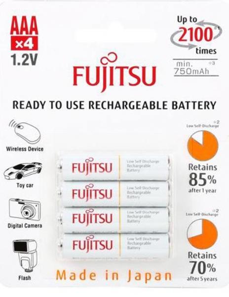 Fujitsu Acumulator whitePRO 4x AAA 2450MA 0
