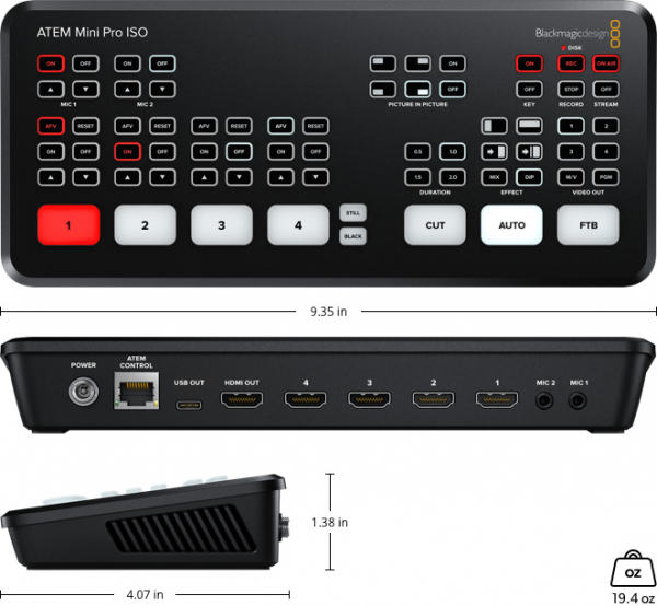 Blackmagic Design ATEM Mini Pro ISO, HDMI Live Stream switcher video [2]