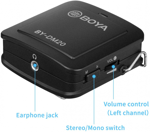 Boya BY-DM20 Kit lavaliera dubla pentru IOS si Android 4