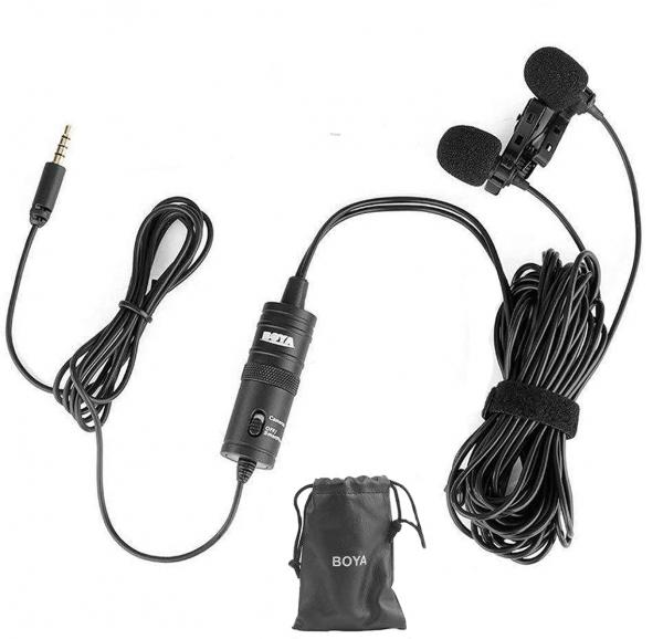 Boya BY-M1DM microfon lavaliera dubla 0