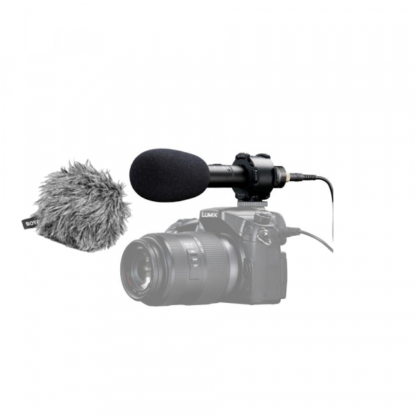 Boya BY-PVM50 Microfon Stereo cu Shock-mount 0