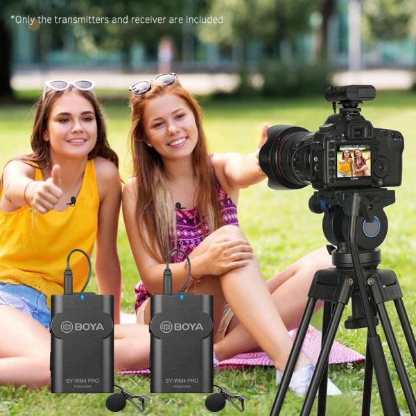 Boya BY-WM4 Pro-K2 Microfon tip Lavaliera Wireless Dubla 11