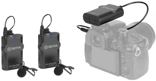 Boya BY-WM4 Pro-K2 Microfon tip Lavaliera Wireless Dubla 0
