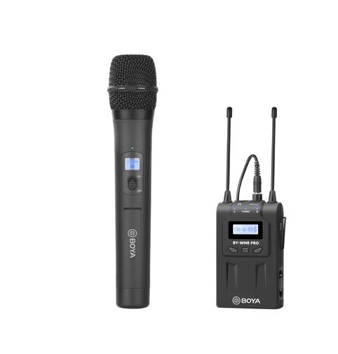 Pachet Boya WM8 PRO-K3 microfon wireless cu receiver si Cub logo 0