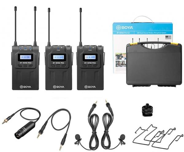 Boya BY-WM8 PRO K2 lavaliera dubla wireless 7