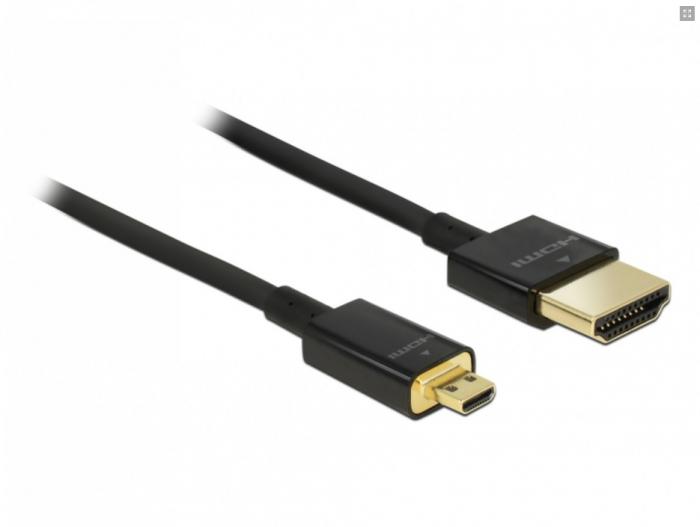 Cablu Hdmi la mini Hdmi-C T-T 3D 4K 0.5m slim premium [0]