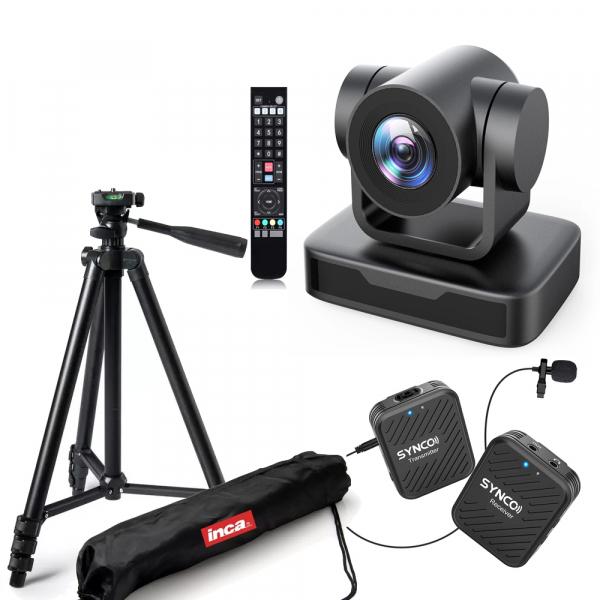 Kit lector Camera PTZ Full HD 1080 Zoom 10X USB 2.0 cu lavaliera Wireless 0