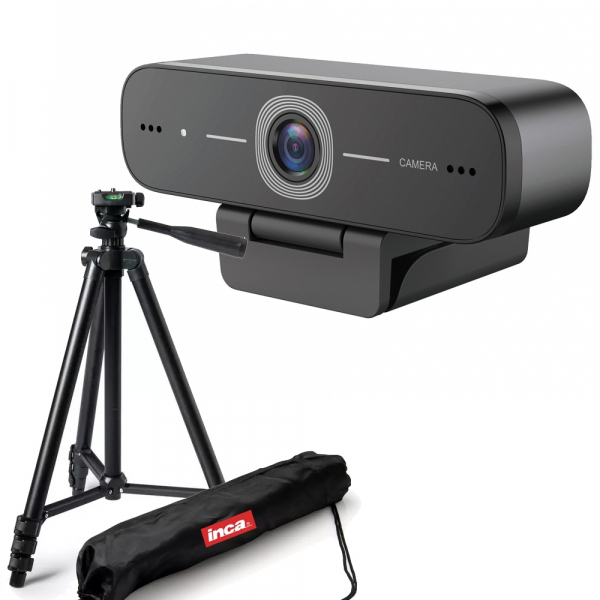 Kit Lector Camera Web Full HD 1080 USB 2MP microfon incorporat si trepied 0