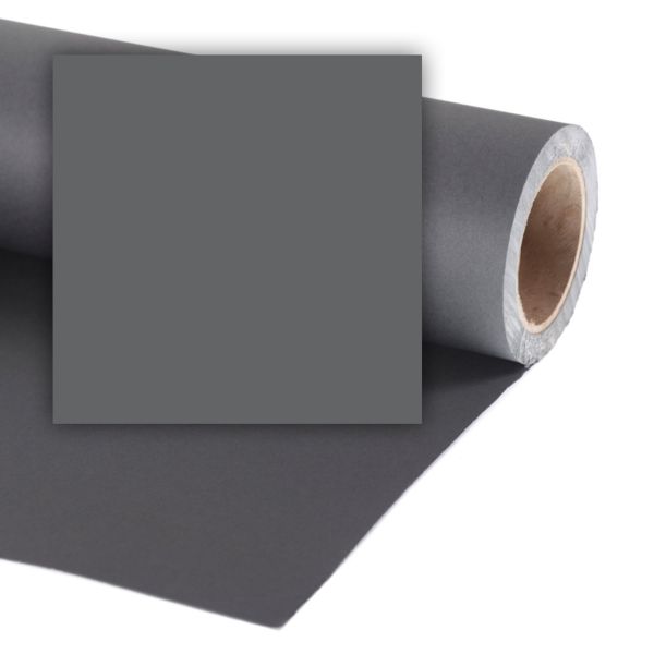 Colorama fundal foto gri Charcoal 1.35 x 11m [0]