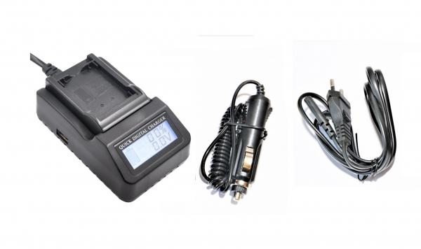 Digital Power Incarcator rapid cu LCD compatibil JVC VF815 [0]