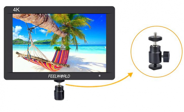 FeelWorld Monitor 7'' IPS 1920x1200 3G-SDI 4K HDMI Input Full HD Carcasa Aluminiu 1