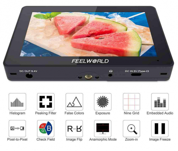 "Feelworld F5PRO Monitor IPS 4K 5.5"" Touchscreen HDMI 1"