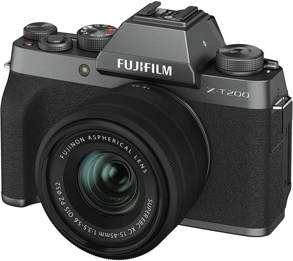 Fujifilm Aparat Foto Mirrorless X-T200 Dark Silver Kit cu obiectiv 15-45mm 3