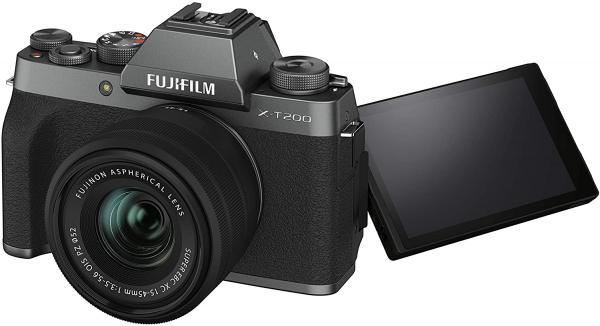 Fujifilm Aparat Foto Mirrorless X-T200 Dark Silver Kit cu obiectiv 15-45mm 1