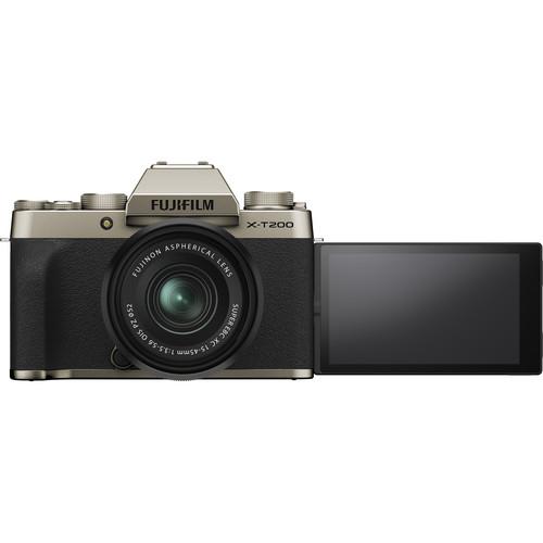 Fujifilm Aparat Foto Mirrorless X-T200 Gold Kit cu obiectiv 15-45mm 2