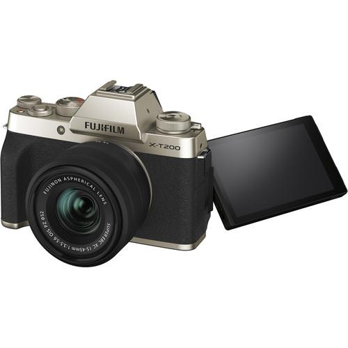 Fujifilm Aparat Foto Mirrorless X-T200 Gold Kit cu obiectiv 15-45mm 1