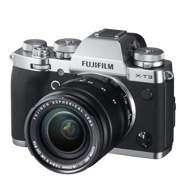 Fujifilm Kit Aparat Foto Mirrorless X-T3 cu Obiectiv Fujinon XF18-55mm f2.8-4 Argintiu 1
