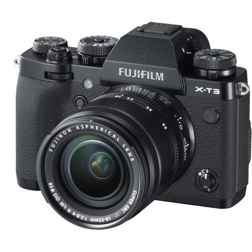 Fujifilm Aparat Foto Mirrorless X-T3 Kit cu Obiectiv Fujinon XF18-55mm f2.8-4 Negru 1