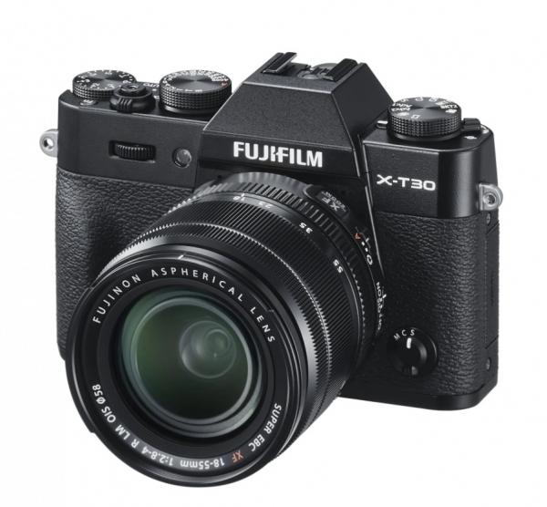 Fujifilm Kit Aparat Foto Mirrorless X-T30 cu Obiectiv Fujinon XF 18-55mm f2.8-4 Negru [0]