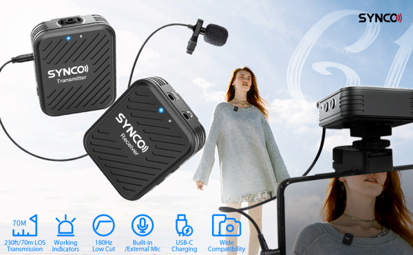 Synco G1 Lavaliera Wireless compact 5