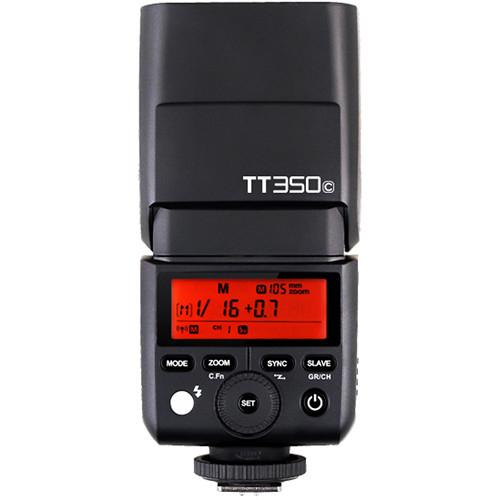 Pachet Godox Mini TT350C Blitz TTL dedicat Canon + Softbox 0