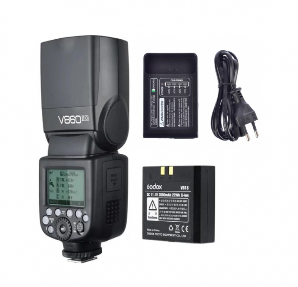 Pachet Godox Blitz Ving V860IIC TTL Canon cu Acumulator si Incarcator + Godox Softbox 15x20cm 0