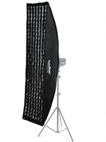 Godox Softbox Strip cu fagure Montura Bowens 35x160cm [0]