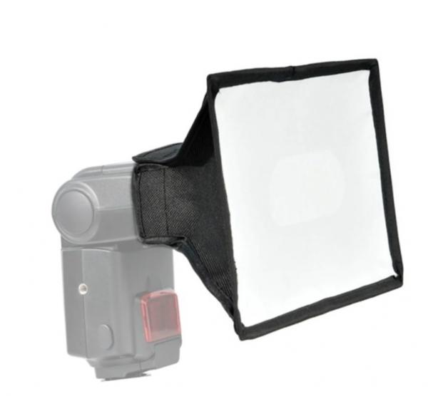 Pachet Godox Mini TT350N Blitz TTL dedicat Nikon + Softbox 1