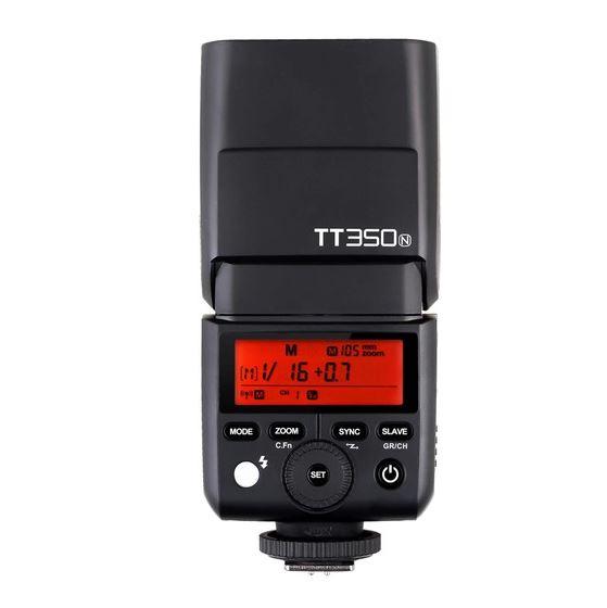 Pachet Godox Mini TT350N Blitz TTL dedicat Nikon + Softbox 0