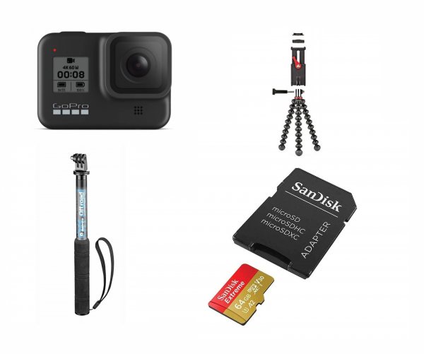 GoPro Hero 8 Black Bundle Camera de Actiune 4K60p 64MicroSD 0
