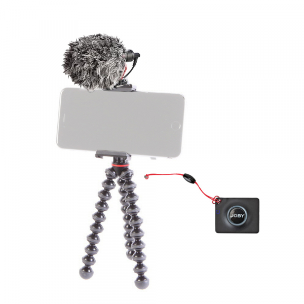 Joby GripTight Action Kit minitrepied flexibil cu telecomanda si microfon 0