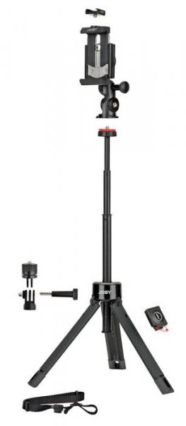 Joby GripTight PRO TelePod Minitrepied telescopic cu telecomanda si microfon 1