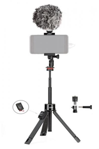 Joby GripTight PRO TelePod Minitrepied telescopic cu telecomanda si microfon 0